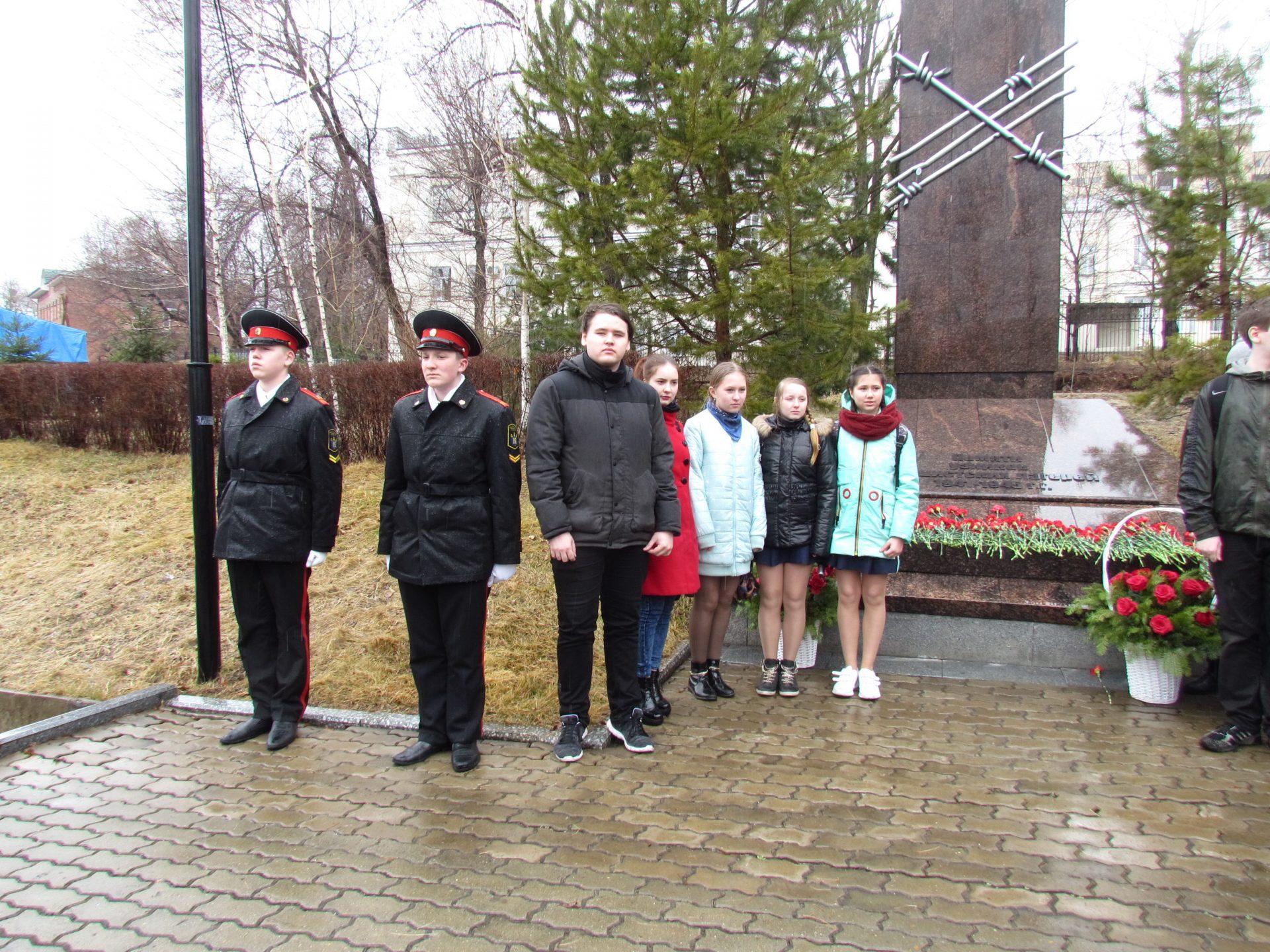 Митинг памяти об узниках фашистских концлагерей в Хабаровске