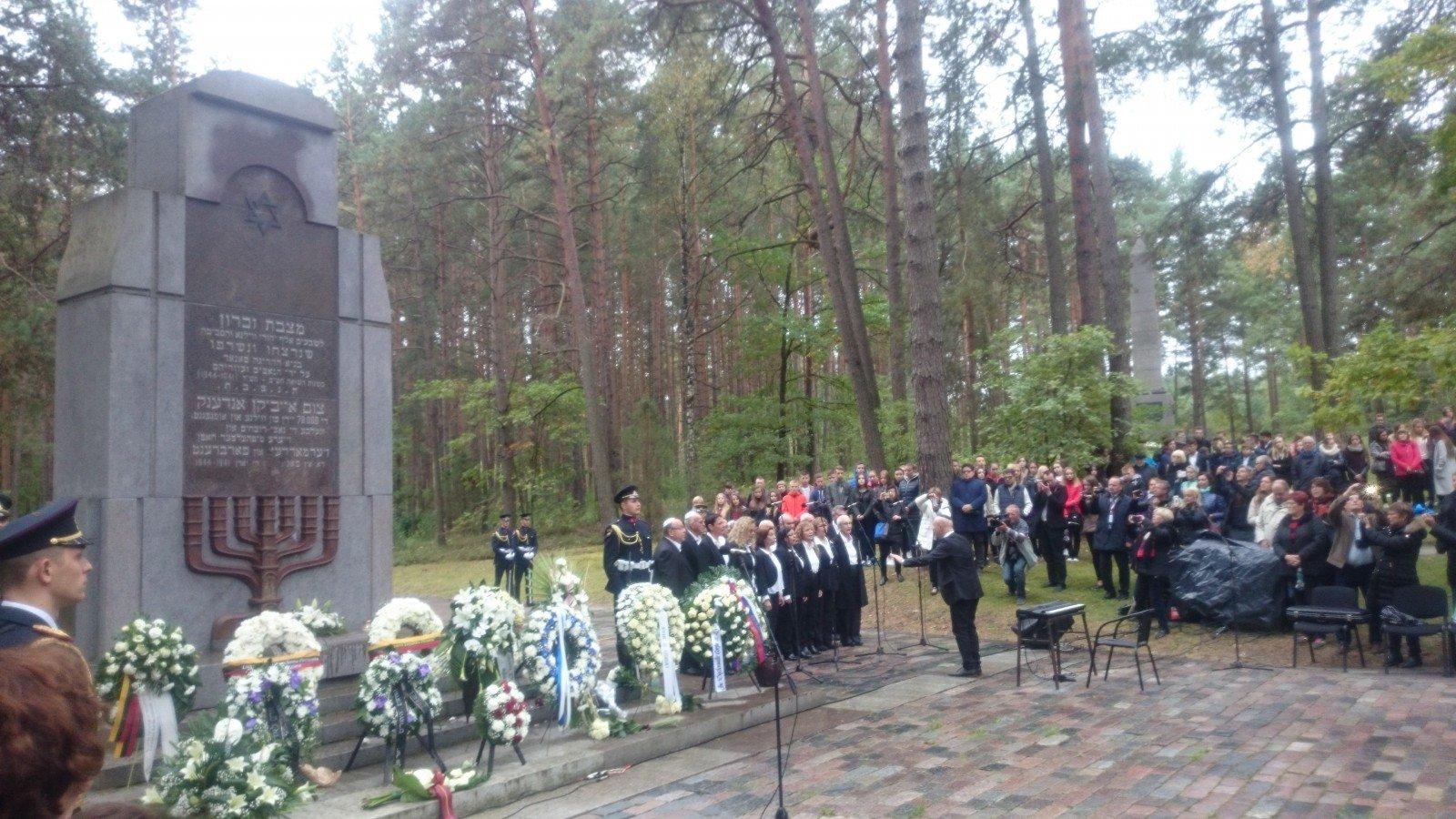 В Паняряй почтили память жертв Холокоста