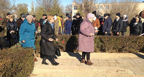 Открытие памятных знаков жертвам Холокоста собрало 150 жителей Волгоградской области