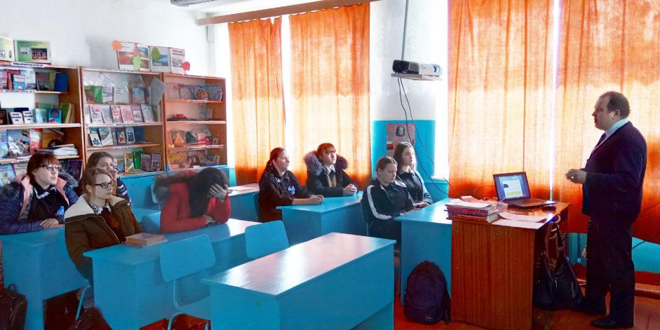 В Лобаскинской средней школе Атяшевского района Республики Мордовия прошел классный час, посвященный памяти жертв Холокоста