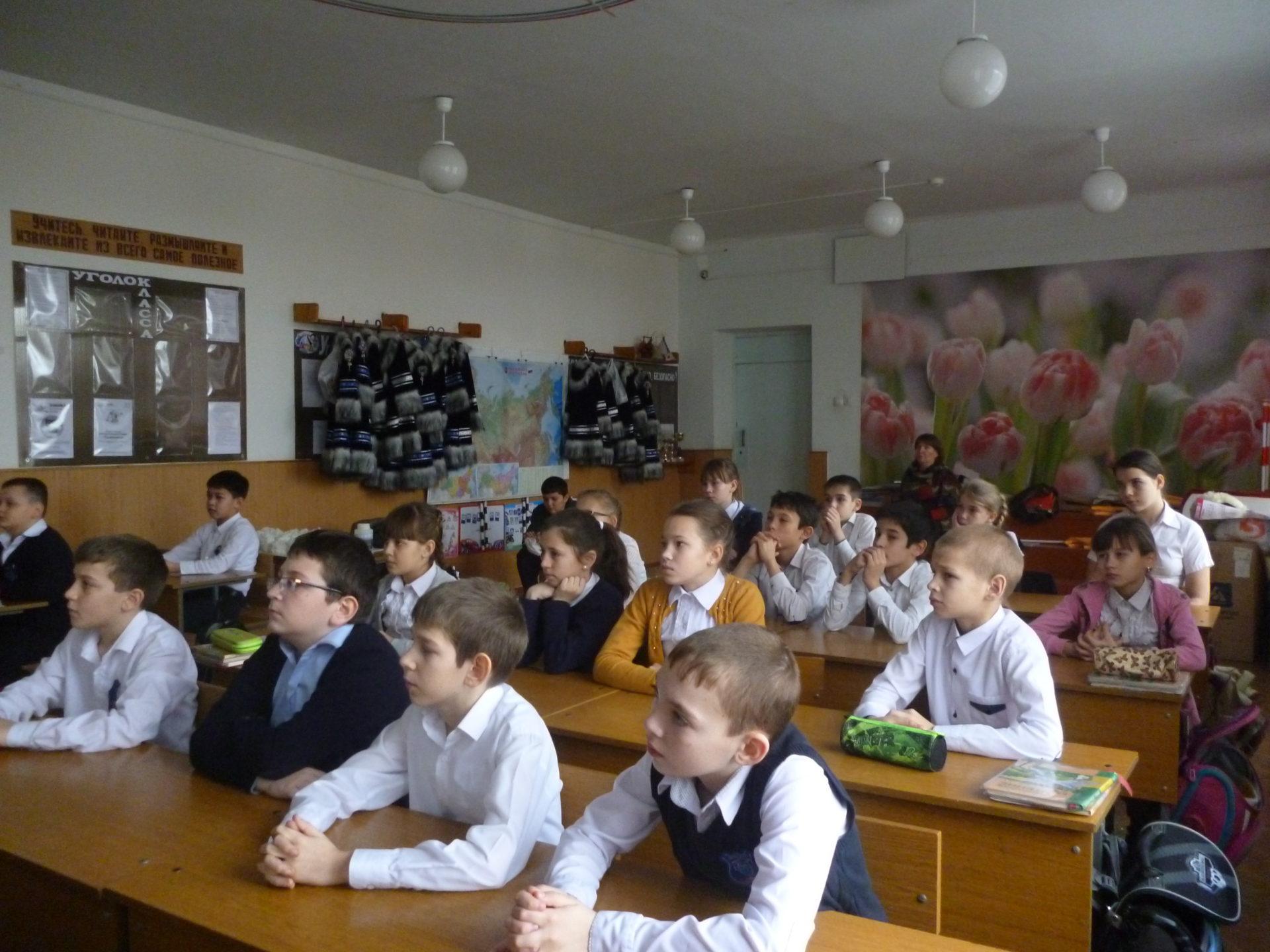 Встреча с учащимися СОШ №2 села Арзгир