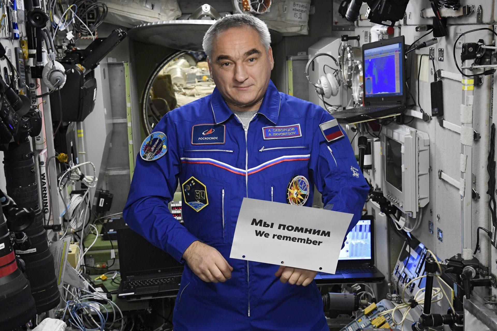 Российские космонавты почтили на МКС память жертв Холокоста
