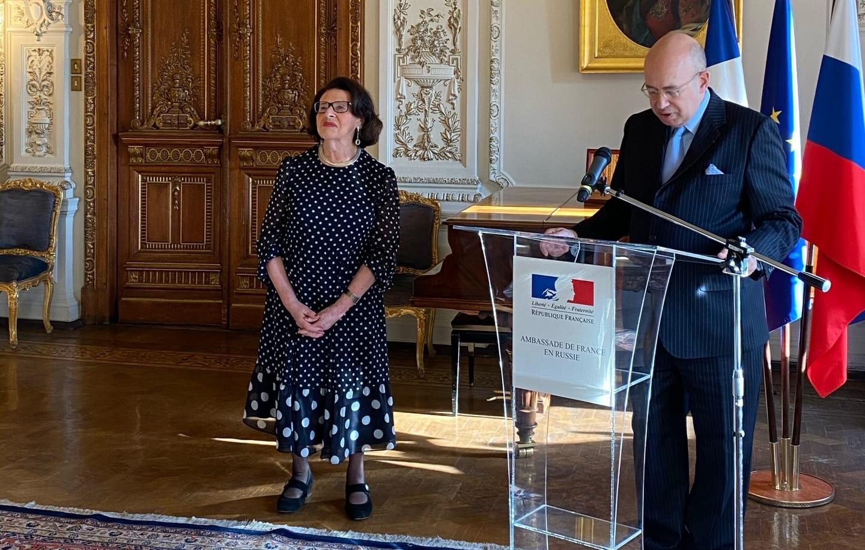 Церемония награждения и речь Аллы Гербер в посольстве Франции